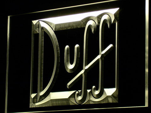 Image of Duff LED Neon Sign - Yellow - SafeSpecial