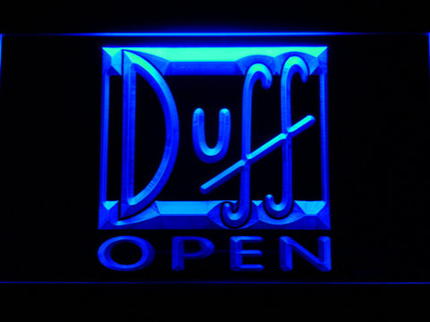Image of Duff Open LED Neon Sign - Blue - SafeSpecial