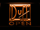 Duff Open LED Neon Sign - Orange - SafeSpecial