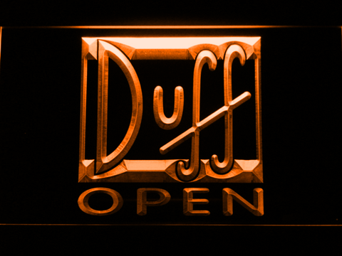 Image of Duff Open LED Neon Sign - Orange - SafeSpecial