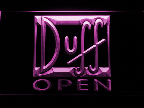 Image of Duff Open LED Neon Sign - Purple - SafeSpecial