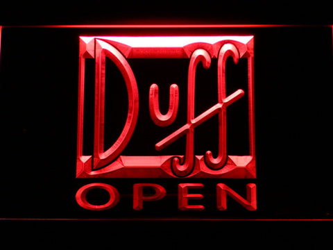 Image of Duff Open LED Neon Sign - Red - SafeSpecial