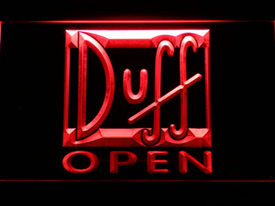 Duff Open LED Neon Sign - Red - SafeSpecial