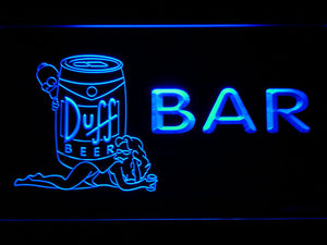 Duff Simpsons Bar LED Neon Sign - Blue - SafeSpecial