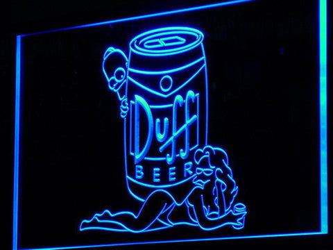Image of Duff Simpsons LED Neon Sign - Blue - SafeSpecial