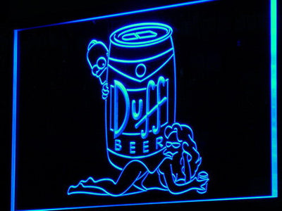 Duff Simpsons LED Neon Sign - Blue - SafeSpecial