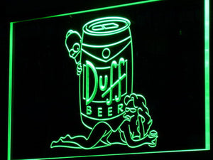 Duff Simpsons LED Neon Sign - Green - SafeSpecial