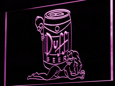 Image of Duff Simpsons LED Neon Sign - Purple - SafeSpecial