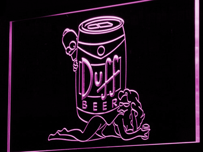 Duff Simpsons LED Neon Sign - Purple - SafeSpecial