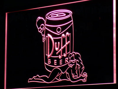 Duff Simpsons LED Neon Sign - Red - SafeSpecial