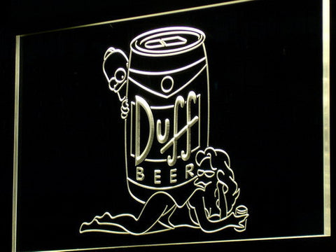 Image of Duff Simpsons LED Neon Sign - Yellow - SafeSpecial
