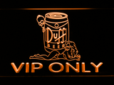 Duff Simpsons VIP Only LED Neon Sign - Orange - SafeSpecial