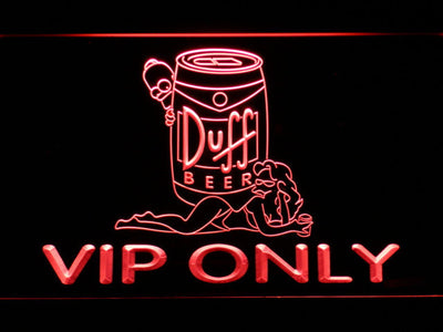Duff Simpsons VIP Only LED Neon Sign - Red - SafeSpecial