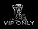 Duff Simpsons VIP Only LED Neon Sign - White - SafeSpecial