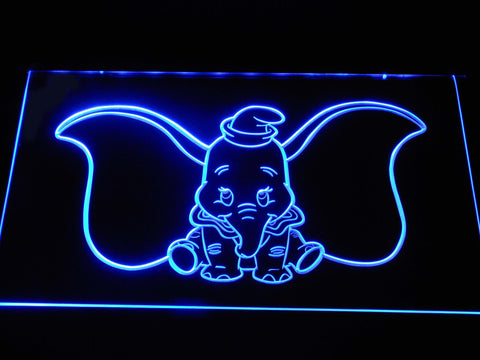 Dumbo LED Neon Sign - Blue - SafeSpecial