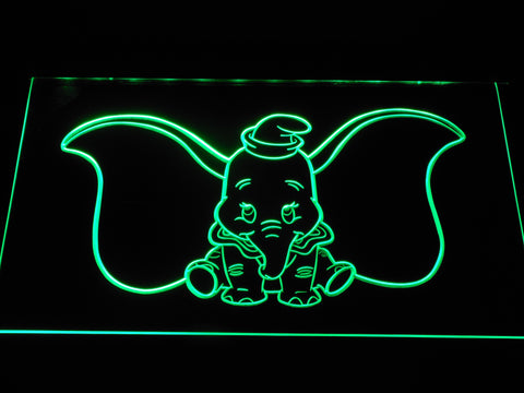 Image of Dumbo LED Neon Sign - Green - SafeSpecial