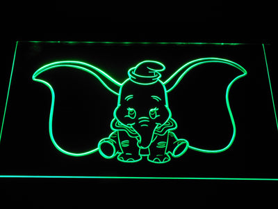 Dumbo LED Neon Sign - Green - SafeSpecial