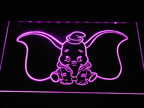 Dumbo LED Neon Sign - Purple - SafeSpecial