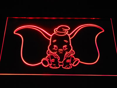 Dumbo LED Neon Sign - Red - SafeSpecial