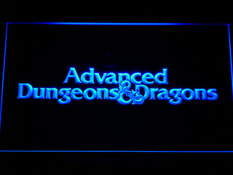 Dungeons & Dragons Advanced LED Neon Sign - Blue - SafeSpecial