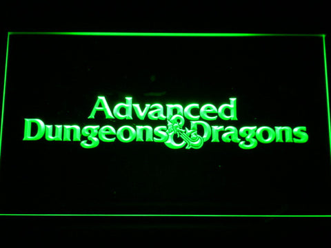 Dungeons & Dragons Advanced LED Neon Sign - Green - SafeSpecial