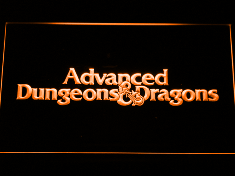 Dungeons & Dragons Advanced LED Neon Sign - Orange - SafeSpecial