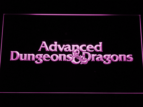 Dungeons & Dragons Advanced LED Neon Sign - Purple - SafeSpecial