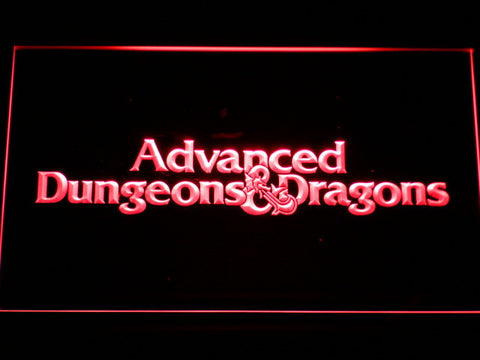 Dungeons & Dragons Advanced LED Neon Sign - Red - SafeSpecial