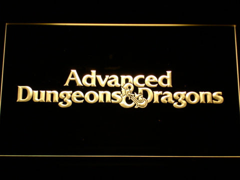 Dungeons & Dragons Advanced LED Neon Sign - Yellow - SafeSpecial