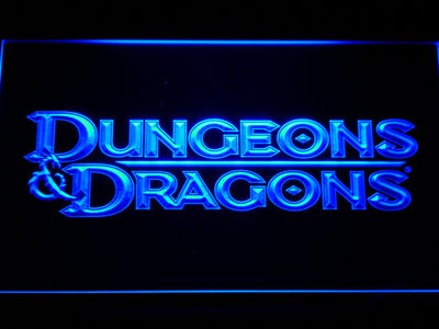 Dungeons & Dragons LED Neon Sign - Blue - SafeSpecial