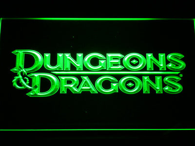 Dungeons & Dragons LED Neon Sign - Green - SafeSpecial