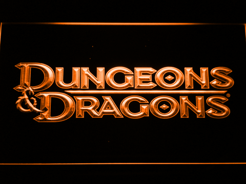 Image of Dungeons & Dragons LED Neon Sign - Orange - SafeSpecial
