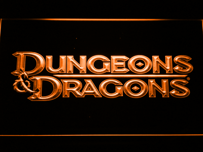 Dungeons & Dragons LED Neon Sign - Orange - SafeSpecial