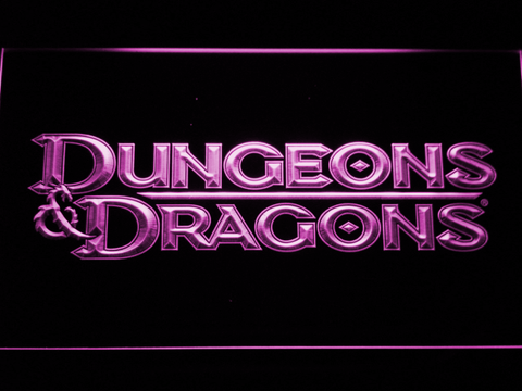 Image of Dungeons & Dragons LED Neon Sign - Purple - SafeSpecial