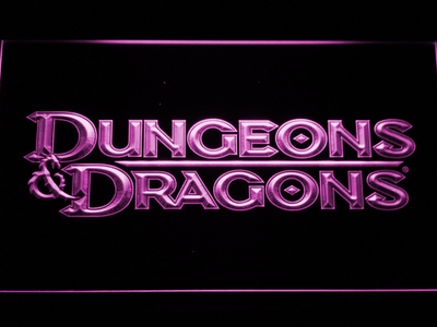 Dungeons & Dragons LED Neon Sign - Purple - SafeSpecial
