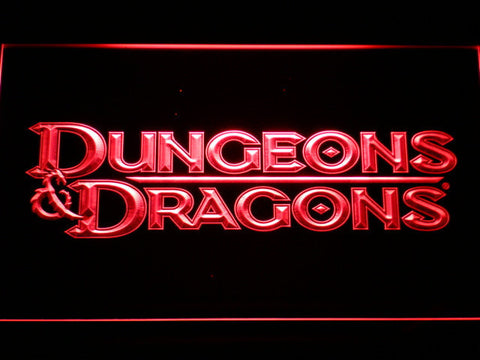 Image of Dungeons & Dragons LED Neon Sign - Red - SafeSpecial