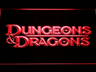 Dungeons & Dragons LED Neon Sign - Red - SafeSpecial