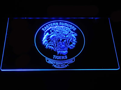 Easts Tigers LED Neon Sign - Blue - SafeSpecial