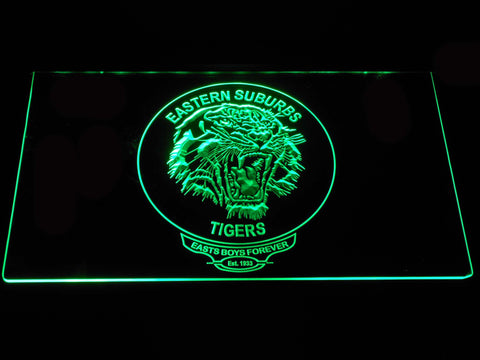Image of Easts Tigers LED Neon Sign - Green - SafeSpecial