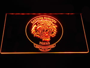 Easts Tigers LED Neon Sign - Orange - SafeSpecial