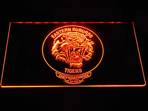 Image of Easts Tigers LED Neon Sign - Orange - SafeSpecial