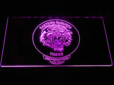 Easts Tigers LED Neon Sign - Purple - SafeSpecial