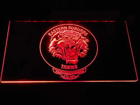 Easts Tigers LED Neon Sign - Red - SafeSpecial