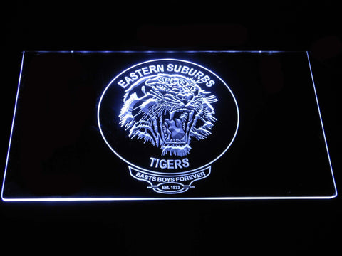 Image of Easts Tigers LED Neon Sign - White - SafeSpecial