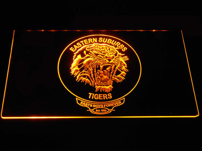 Easts Tigers LED Neon Sign - Yellow - SafeSpecial