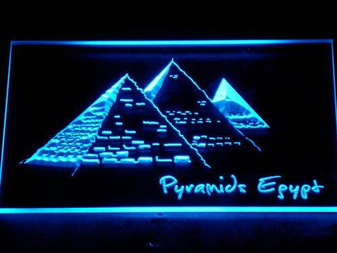 Image of Egypt Pyramids LED Neon Sign - Blue - SafeSpecial