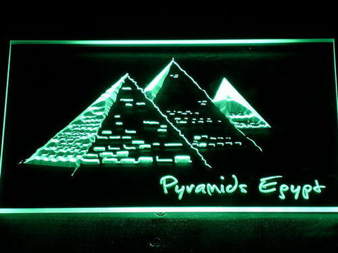Image of Egypt Pyramids LED Neon Sign - Green - SafeSpecial