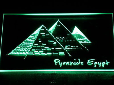 Egypt Pyramids LED Neon Sign - Green - SafeSpecial