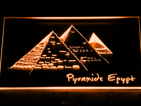 Image of Egypt Pyramids LED Neon Sign - Orange - SafeSpecial