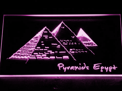 Image of Egypt Pyramids LED Neon Sign - Purple - SafeSpecial